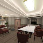 tampilan desain interior meeting room adhiwangsa