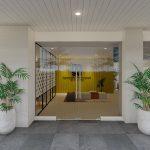 desain pintu masuk coworking space
