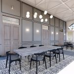 denah interior restoran canting Hotel Solia Zigna